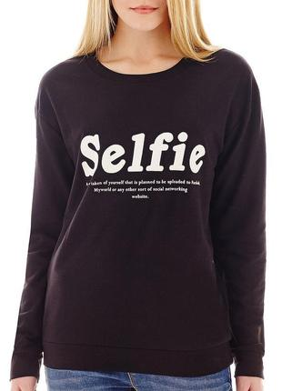 Свитшот реглан толстовка кофта selfie кофточка mango