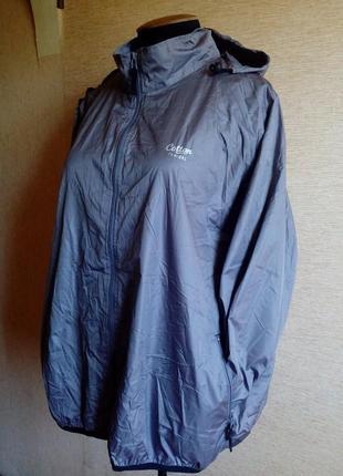 Куртка ветровка/дождевик батального размера