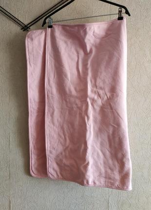 Детское одеяло, розовый плед двойной