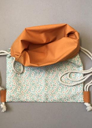 Хлопковый рюкзак, эко сумка, пляжная, пляжный3 фото