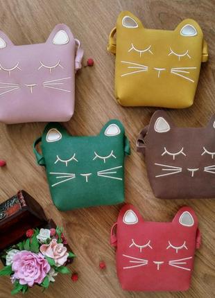 Сумка/сумочка кошка новая детская через плечо для девочки