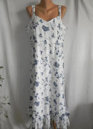 Натуральное платье сарафан1 фото