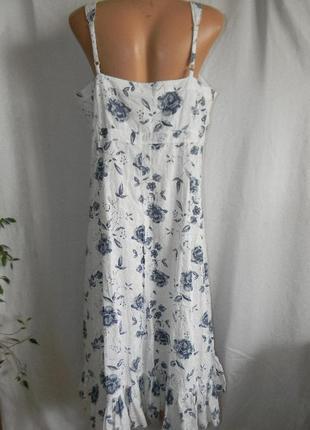 Натуральное платье сарафан3 фото