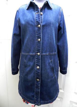Кардиган куртка джинсовая удлиненная- с