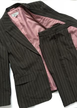 Брючный костюм в полоску! брюки и жакет, штаны, пиджак!