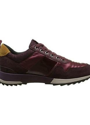 Акция! высокое качество и комфорт! кроссовки geox женские d aneko b abx бургундия