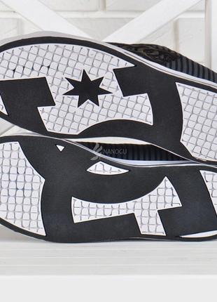 Кроссовки мужские кеды для города dc черные текстиль4 фото
