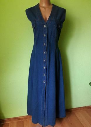 Длинное джинсовое платье рубашка