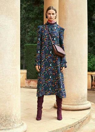 Платье, с оборками. цветочный принт.h&m.3 фото