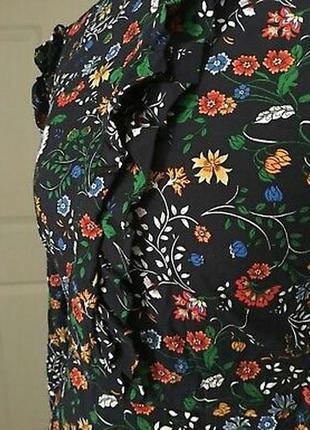 Платье, с оборками. цветочный принт.h&m.4 фото