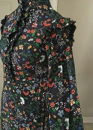 Платье, с оборками. цветочный принт.h&m.5 фото
