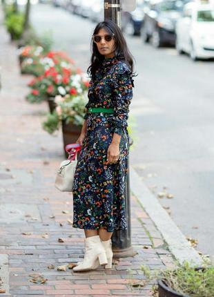 Платье, с оборками. цветочный принт.h&m.8 фото