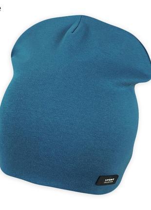 Двойная шапка малышам ог 48-52см