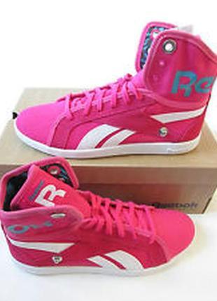 Новые яркие розовые текстильные кроссовки reebok оригинал