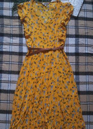 Крутое яркое платье рубашка с поясом в ретро стиле