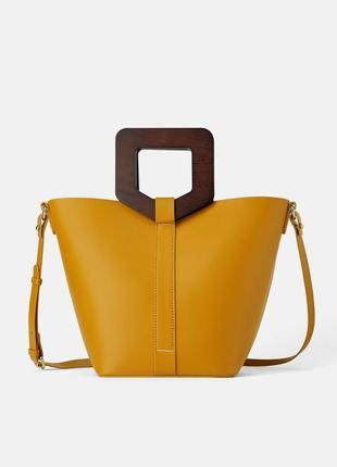 Новая оригинальная сумка с деревяными ручками