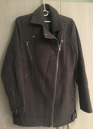 Брендовое пальто -косуха шерсть