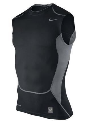Компрессионная/термо майка nike pro combat hypercool 2.0 compression sleeveless