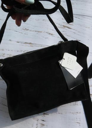Кожа новая сумка zara