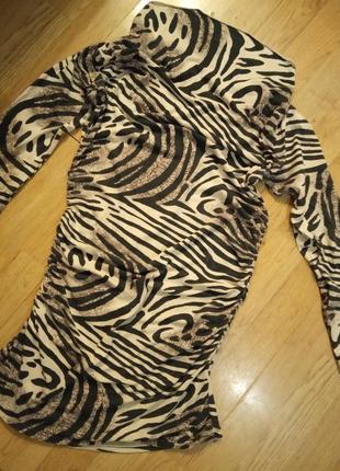 Тигровая туника платье кофта
