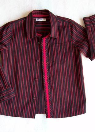 Рубашка красно-черная полоска