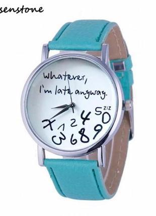 Модные зеленые часы