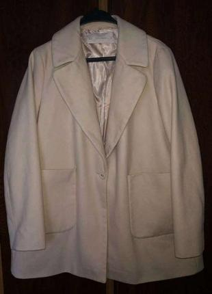 Пальто оверсайз, со съемным мехом, большой размер