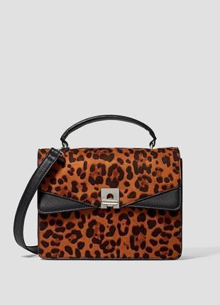 Новая сумка леопард stradivarius