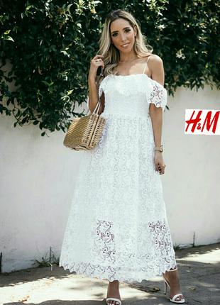 Кружевное платье. h&m.