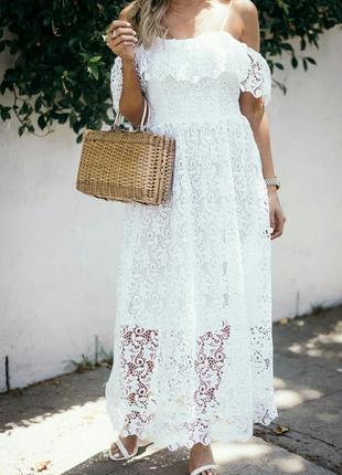 Кружевное платье. h&m.3 фото
