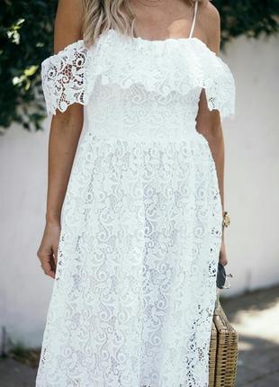 Кружевное платье. h&m.5 фото