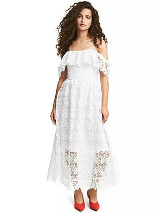 Кружевное платье. h&m.7 фото