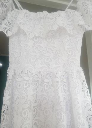 Кружевное платье. h&m.9 фото