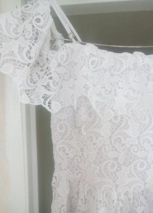 Кружевное платье. h&m.10 фото