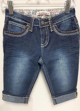 Капри детские ruff джинсовые на девочку бриджи шорты