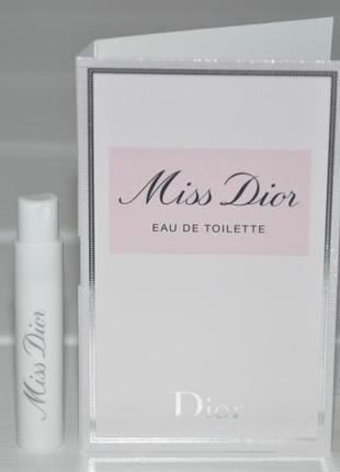 Christian dior miss dior eau de toilette туалетная вода (пробник)