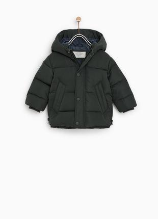 Пуховая куртка zara 2-3 года, 98 см для мальчика