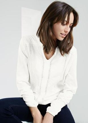 Блузка с длинным рукавом из органического хлопка с вышивкой от тсм (германия). оригинал!