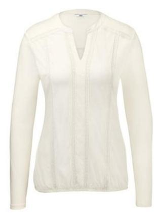 Блузка с длинным рукавом из органического хлопка с вышивкой от тсм (германия). оригинал!2