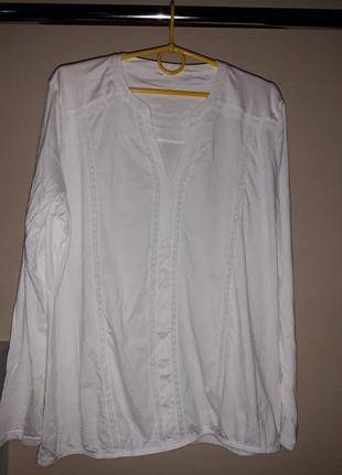 Блузка с длинным рукавом из органического хлопка с вышивкой от тсм (германия). оригинал!5