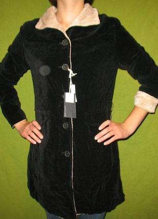 Стильное пальто велюровое легкое летнее р. м