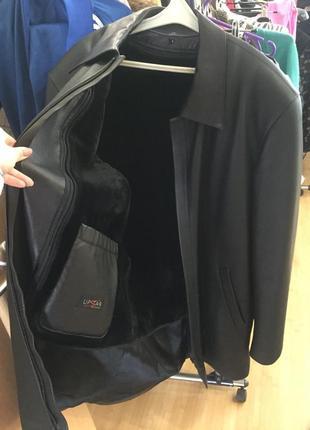 Натуральная кожаная курточка - дубленка с мехом upstar continental