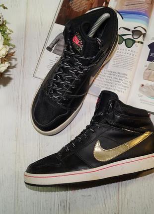Nike кожа. оригинал. комфортные кроссовки, высокие кеды, хайтопы