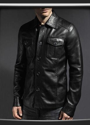 Стильная куртка, пиджак из натуральной кожи  46-48