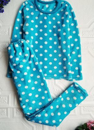 Махровая плюшевая пижама, костюм с брюками