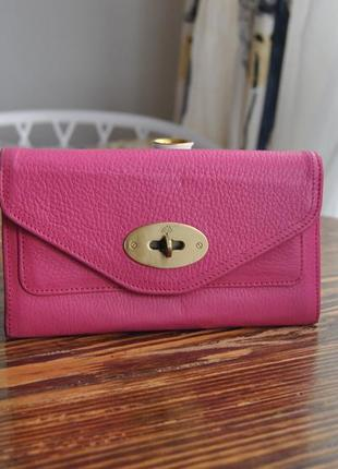 Кожаный кошелек mulberry / шкіряний гаманець