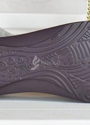 Балетки кожаные турция женские мокасины с перфорацией серые серебро прошитые3 фото