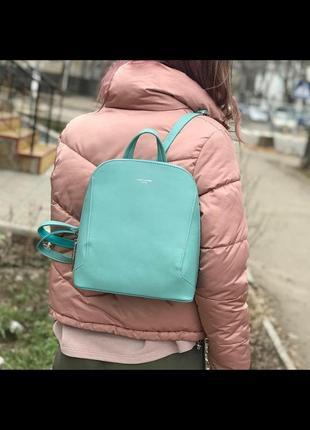 Городской рюкзак david jones 5830-3t зеленый/бирюзовый
