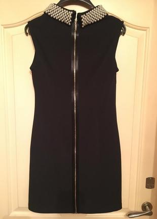 Короткое платье с отделкой от victoria beckham