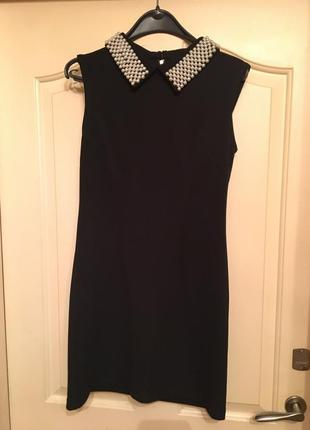 Короткое платье с отделкой от victoria beckham2 фото